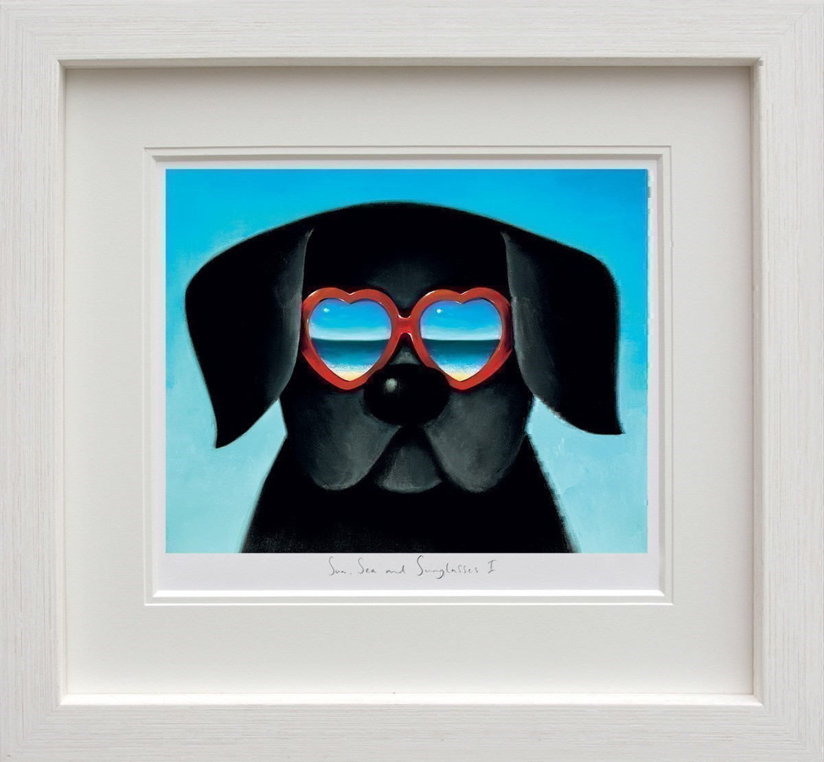 Sun Sea And Sunglasses I by Doug Hyde - Limited Edition on Paper sized 14x11 inches. Available from Whitewall Galleries
